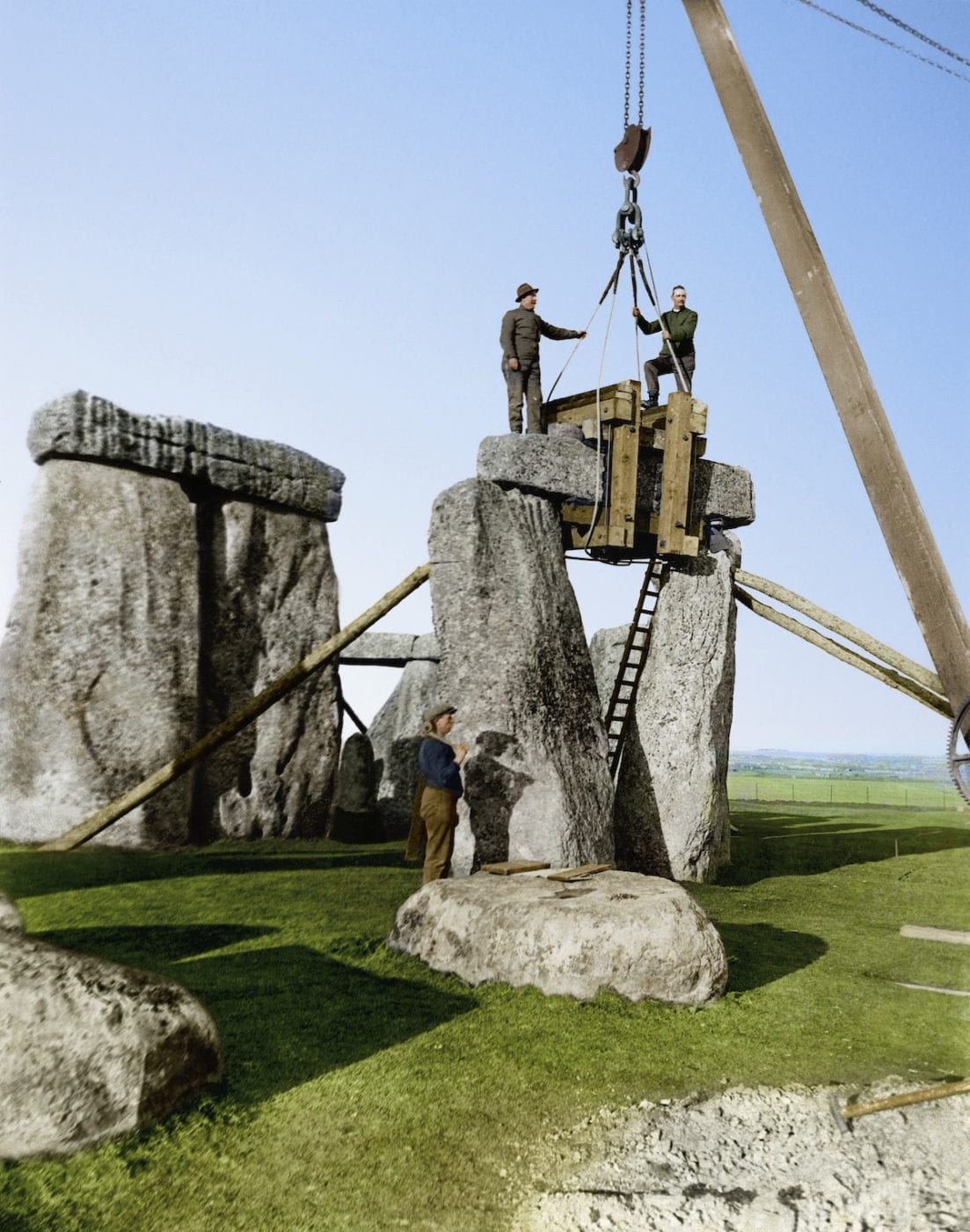 1920 - Excavation and renovation of the Stone Henge monument - 1
