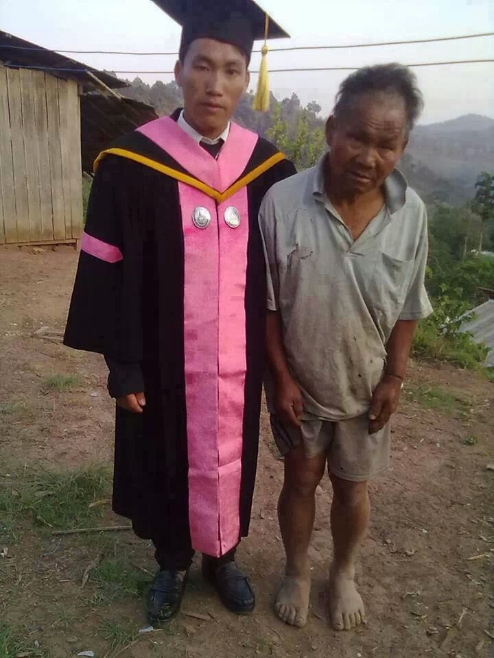 A poor farmer's on his graduation