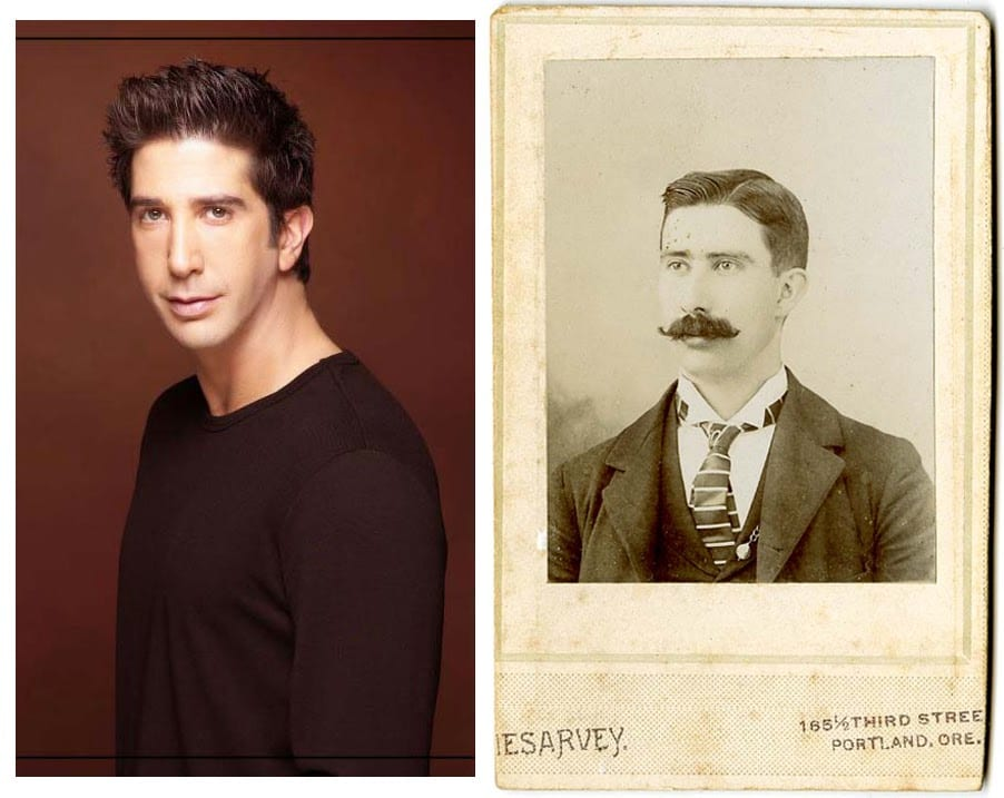 David Schwimmer and an 1890s gentleman