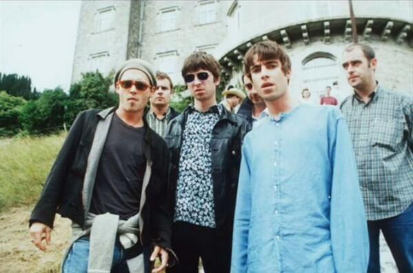 Johnny Depp and Oasis in 1995