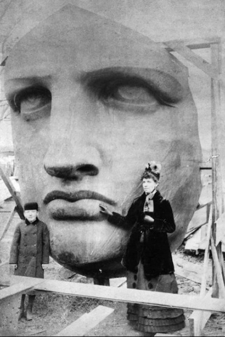 The Statue of Liberty before being sent to America, 1886