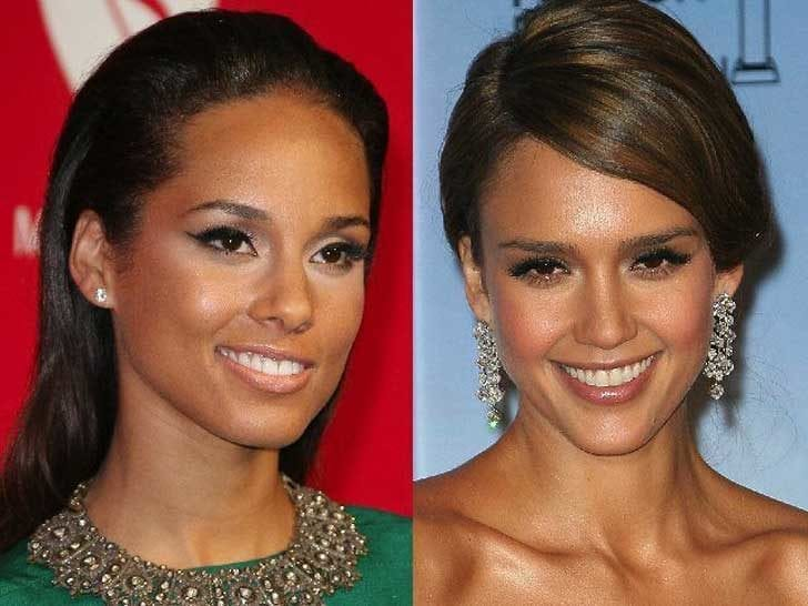 Alicia Keys and Jessica Alba