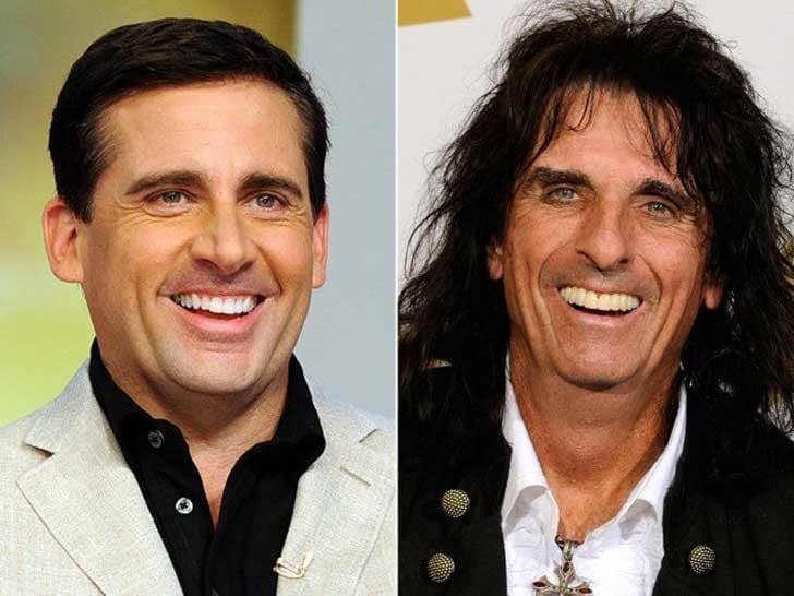 Alice Cooper and Steve Carrell