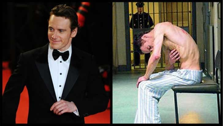 In 2008 Michael Fassbender lost 42lbs to play Bobby Sands in Hunger