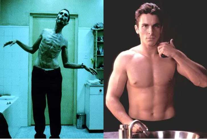 Christian Bale lost 4 stone his role in The Machinist in 2004