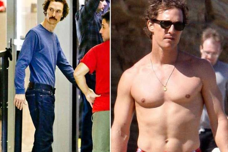 Matthew McConaughey shed almost 4 stone for Dallas Buyers Club in 2013